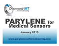 Parylene Conformal Coating for Medical Sensors